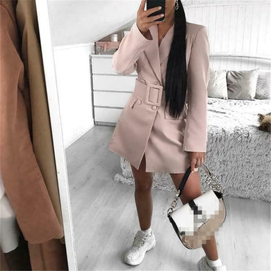 Winter Double Breasted Long Sleeve Outer Coat