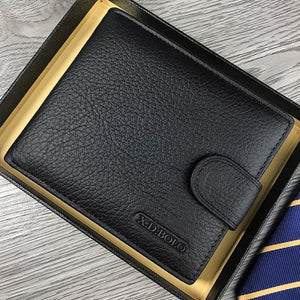 Wallet Men Leather Genuine  Men's Wallets With Coin Pocket