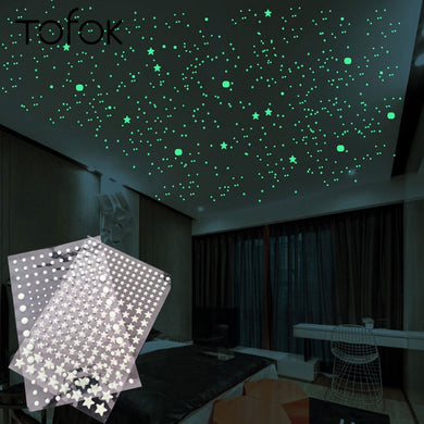 3D Bubble 202pcs/set Stars Dots Luminous Wall Sticker DIY