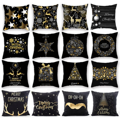 45x45 CM Pillow Case Merry Christmas Decorations For Home