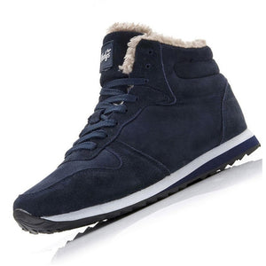 Men's Boots Plus Size 35-48 Warm Ankle Sneakers