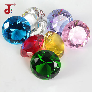 Colors Big Glass Diamond Party Decoration Crystal