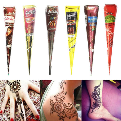 1 pc Indian Henna Tattoo Paste Cone Body Paint