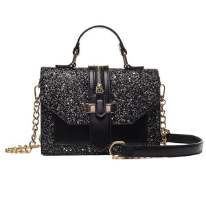 Women's Bling PU leather shoulder bags