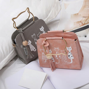 Cat shoulder bag Animal Messenger Bag Women Handbags