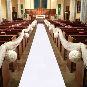 5M 10M Wedding Aisle Runner in a variety of colors