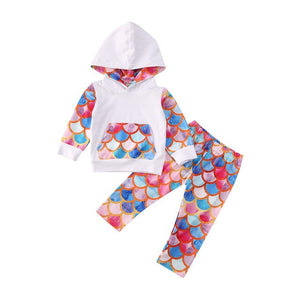 Active Kids Baby Girl Boy Scale Print Tracksuits 2 pc Sportswear 0-4Y