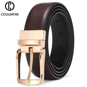 Men's Reversible Dress Belts Casual High Quality