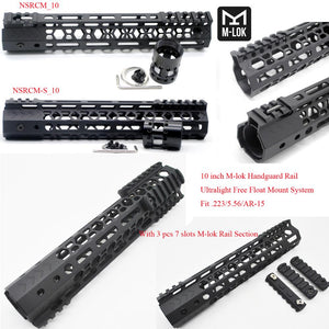 10'' inch Ultralight M-lok Handguard Rail Free Float Mount System