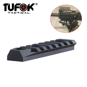 "M-lok Picatinny Rail Section 7 Slots Mlok Rail Adapter Tactical AR 15 Rails With 3/8"" QD Quick Detachable Swivel Socket"