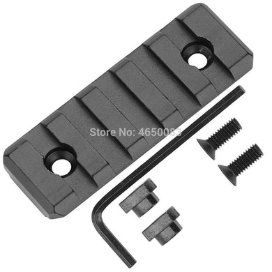 AR15 M4 M16 Tactical hunting 5 Slots M-LOK Rail Base Section Fits AR-15 MLOK Handguard 20mm Picatinny Rail Adapter