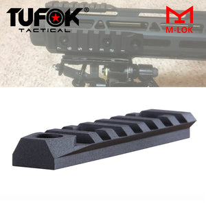 "M-lok Picatinny Rails Tactical AR 15 Rail Section 7 Slots Mlok Rail Adapter With 3/8"" Quick Detachable QD Swivel Socket"
