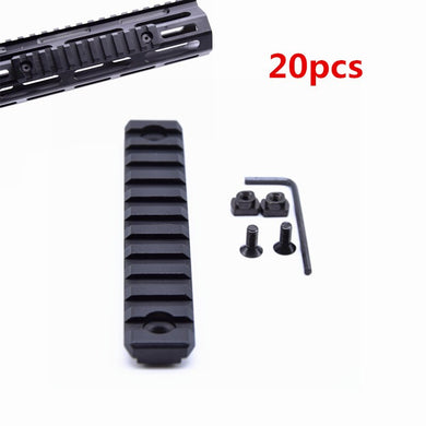 20pcs AR15 rail Aluminum- Black M-Lok 11 Slot Picatinny/Weaver Rail Handguard Section
