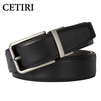Men's Belts Genuine Leather Dress Reversible Belt