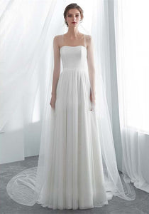 Two style Wedding Dresses w/Jacket Strapless A-Line