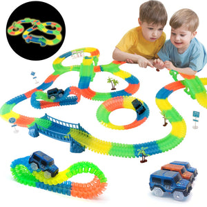 Railway Magical Glowing Flexible Led Electronic Car Set