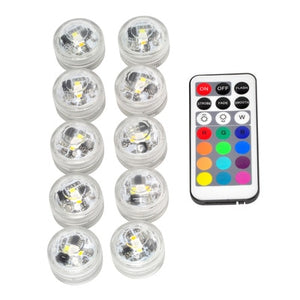 10X Waterproof Remote Control Colored LED Light/Pool Lights