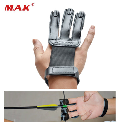 Finger Protection Guard Leather 3 Finger Protect Glove Archery