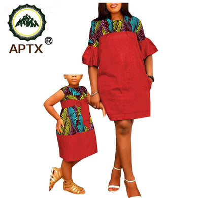 African Dresses Mother/Daughter Matching Clothes