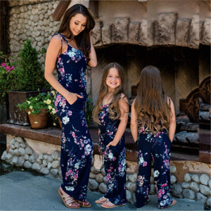 Mother/Daughter Floral Casual Jumpsuits Plus Size avail