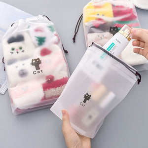 Make-Up Fall Zipper Make-Up Bag Cat Design