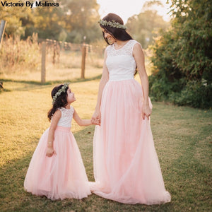 Custom Made Mother/Daughter Pink Tulle Skirt
