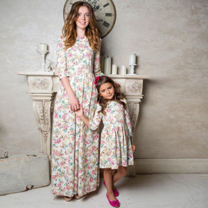 Mother/Daughter Floral Maxi Dress Matching Outfits
