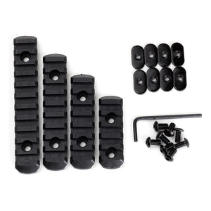 Tactical Ohhunt AR 15 Rifle Accessory Multi Purpose Polymer Picatinny Rail Section Kit