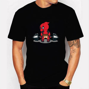 "Deadpool T-Shirt Casual Short Men's/Teens ""I Am Unicorn Letter"""