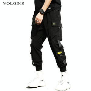 Streetwear Hip Hop Black Harem Pants