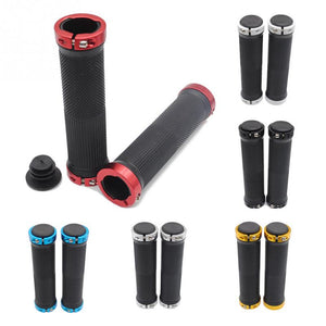 1 pair Bicycle Handlebar Cover Grips Smooth Soft Rubber ends