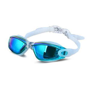 Electroplating UV Waterproof Anti fog Swimwear Eyewear Swim Diving Water Glasses Gafas Adjustable Swimming Goggles Women Men