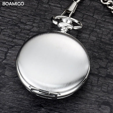 FOB pocket watches fashion mechanical hand wind blank watches