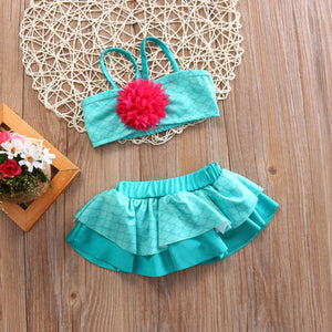 Little Girls 2pc Swimsuit Size 0-2Y
