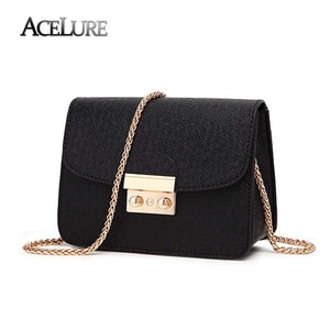 Women's Leather Handbags Chain Messenger Bag Candy Color