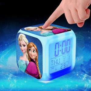 Princess Elsa Anna Minions Pokemon go Digital Alarm Clock