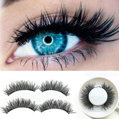 1 pair 3D Double Magnetic False Eyelashes Lashes Reusable