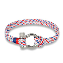 Fashion Jewelry navy style Sport Camping Parachute cord Survival Bracelet Men Women with Stainless Steel Shackle Buckle