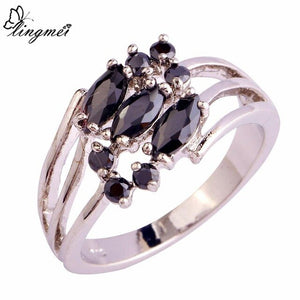 Black Silver Color Ring