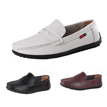 Soft Men's Fashion Casual Leather Shoes Breathable