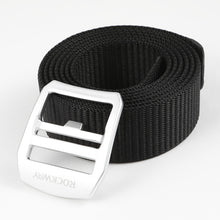 Men's nylon belt with a web design with an adjustable buckle