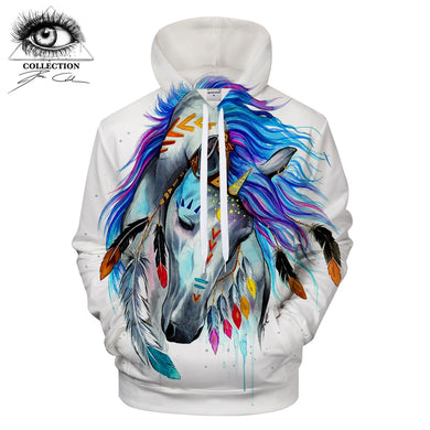 Pferd by Pixie cold Art 3D Animal Hoodies horse Sweatshirts Men Tracksuits Brand Drop Ship Hooded Pullover ZOOTOP BEAR