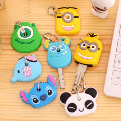 1 pc cartoon Silicone Protective key Case Cover For key Control