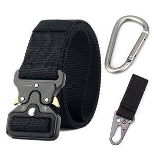 Men's nylon tactical belt providing a unique design for the outdoor enthusiast