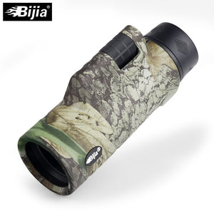 BIJIA 10x42 High Quality 4 colors Multi-coated BAK4 Prism monocular Hunting Bird Watching travel telescope