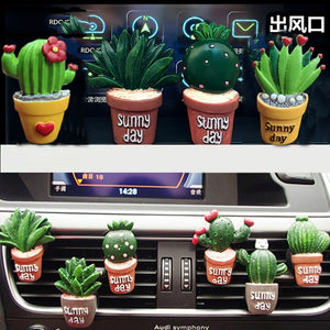 Creative 3D Simulation Plant Air Conditioner Fragrance Car Ornament