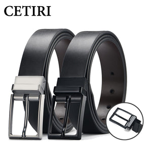 Designer Fine Men's Dress Belt Leather Reversible