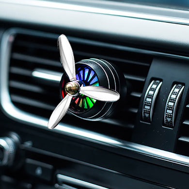 Car Perfume Diffuser Air Freshener LED Light Air Force 3 Vent Outlet Clip Automobiles Decor Propeller Fragrance Smell Ornament