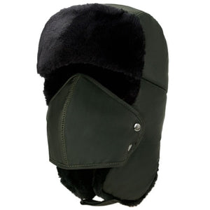 Ear-flap Bomber Hats Caps Scarf for Men & Women