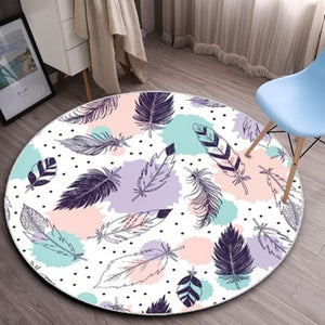 Fashion Nordic style Round Carpets For Living Room Computer Chair Area Rug Child Play Tent Floor Mat Cloakroom Rugs And Carpet